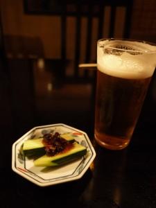 松原庵 欅 生ビール