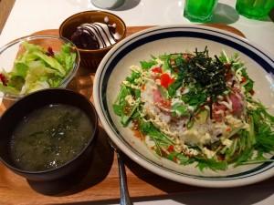 ハンズカフェ ネギトロ丼定食 金枪鱼青葱盖饭套餐