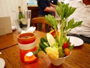 LONGING HOUSE バーニャカウダ 意式冬季蔬菜料理