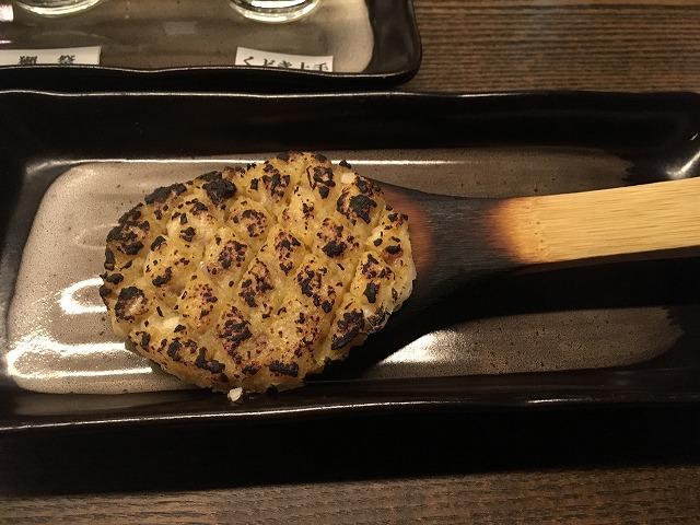 原宿の蕎麦屋で日本酒
