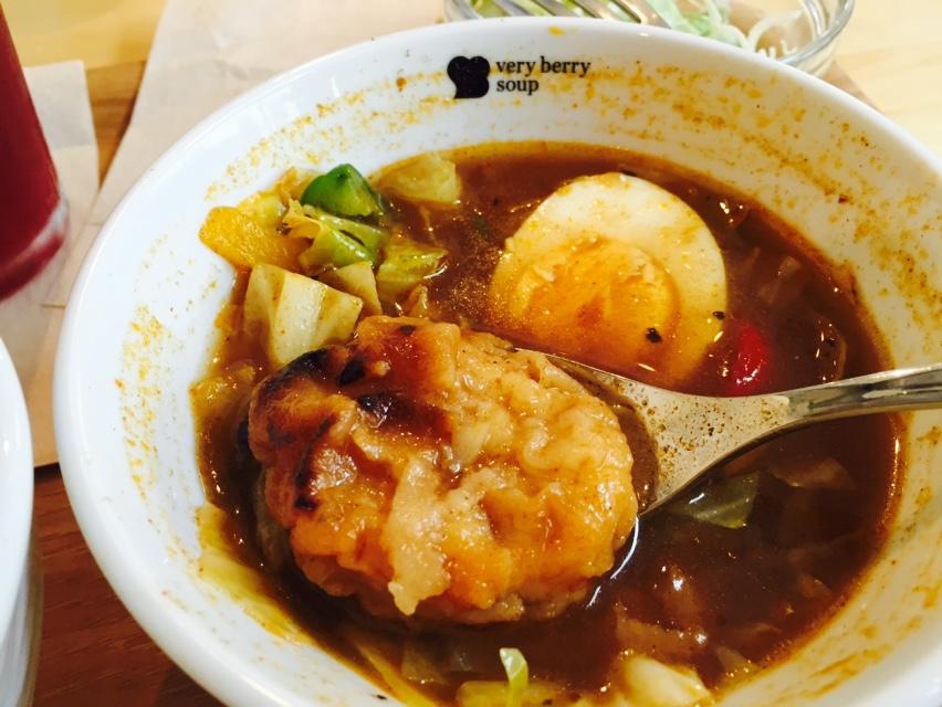 食べるスープ(L) 鶏肉と1日分野菜の北海道スープカレー