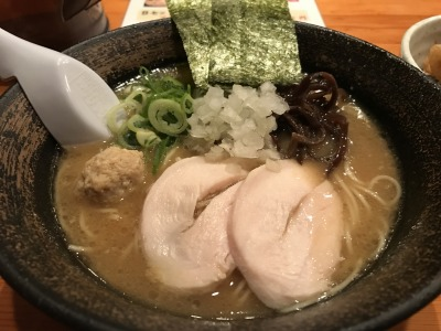 濃厚醤油鶏そば+Aセット(名物 鶏天丼)