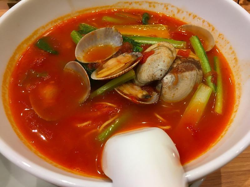太陽のトマト麺withチーズ 原宿竹下通り店 太陽のボンゴレ麺