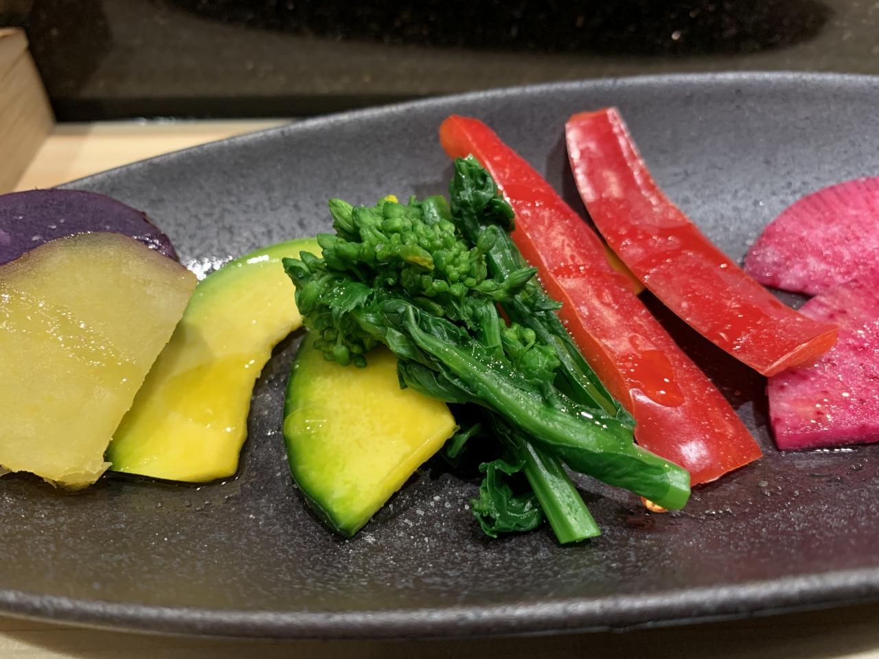 コース 旬野菜 5種盛り合わせ