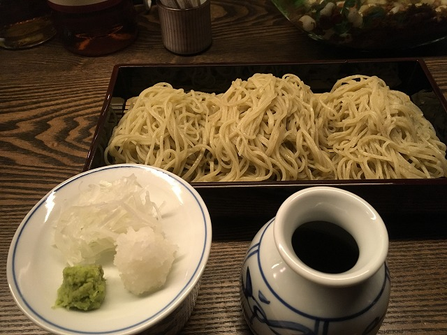 三種盛り蕎麦