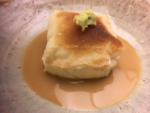 夜のお食事 胡麻豆腐