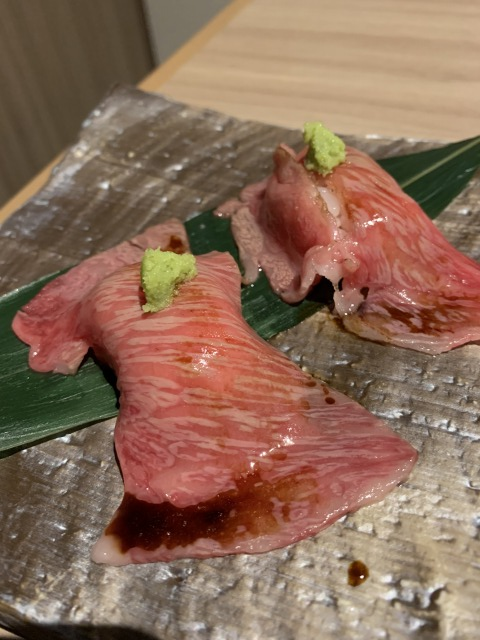 近江牛 サーロイン炙り寿司
