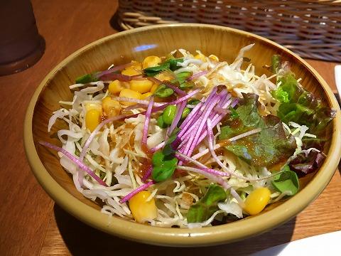 若鶏のから揚げ定食 サラダ