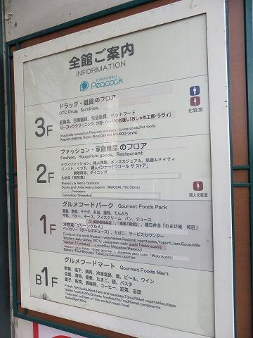 【閉店】ピーコックストア青山店 ピーコックストア青山店 館内案内